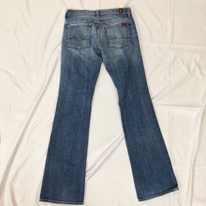 7 for all man kind size 27 flare jeans.